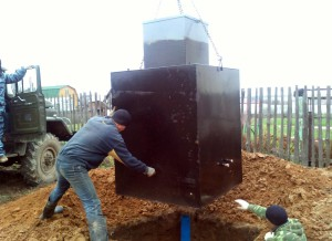 Производство металлический кессон для погреба
