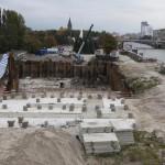 шпунт ларсена, берегсталь, котлован, берегоукрепление, вибропогружение, раскрепление, строительство